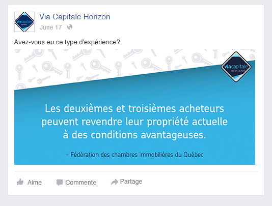 via capitale horizon publication facebook