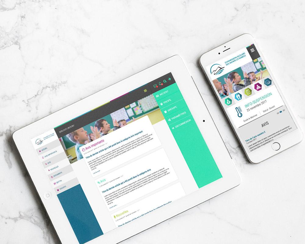 mobile responsive commission scolaire des monts-et-marées