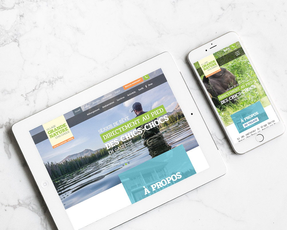 mobile responsive - village grande nature