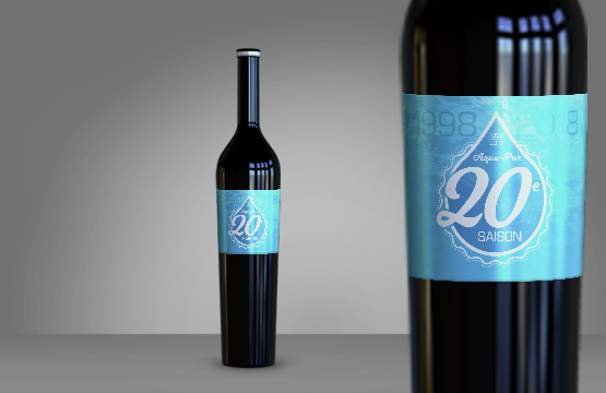 étiquettes de vin aqua-pur