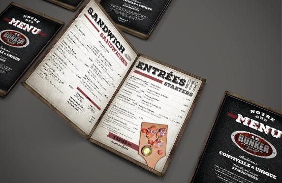 menu du bunker d'amqui