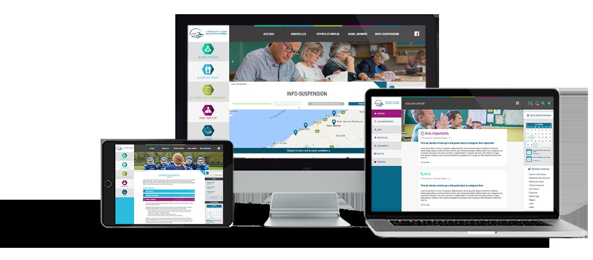 site web commission scolaire des monts-et-marées