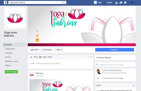 page facebook pour yoga avec sabrina