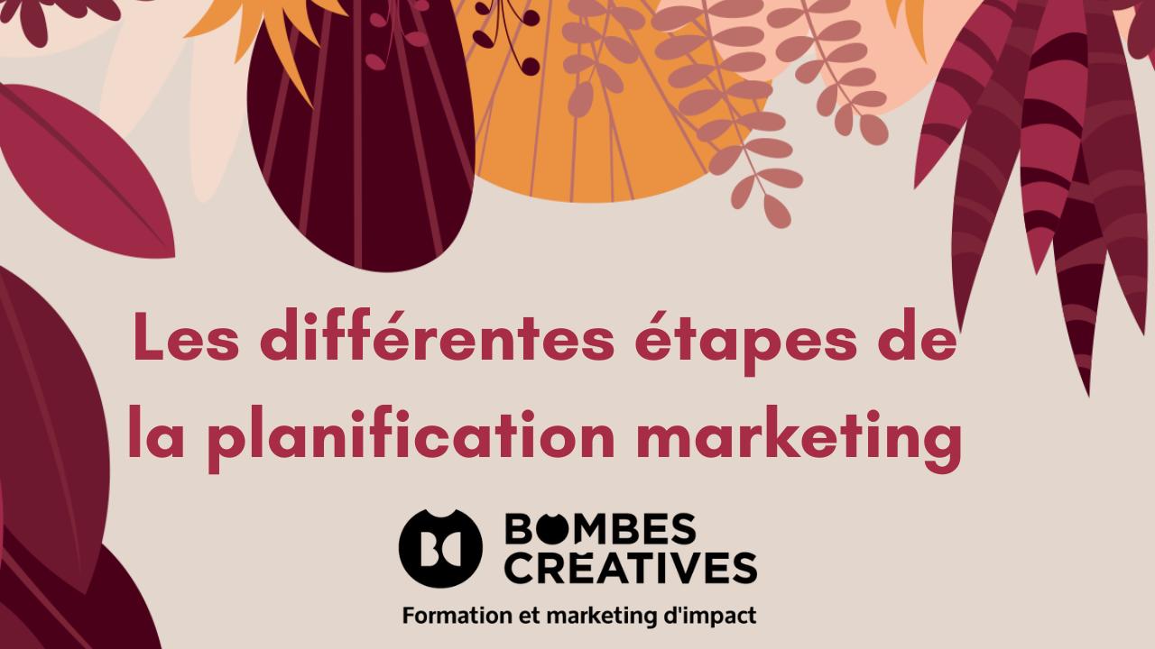 Les différentes étapes de la planification marketing