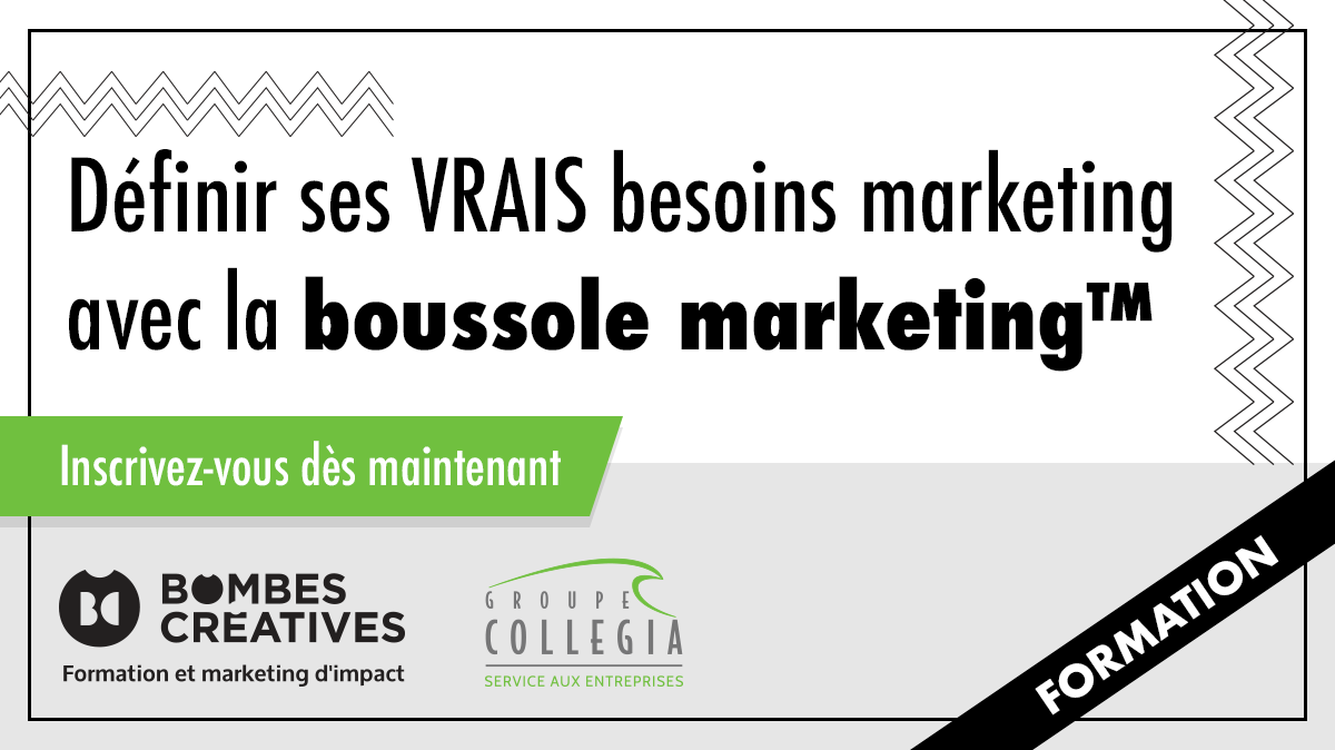 Définir ses VRAIS besoins marketing avec la boussole marketing™